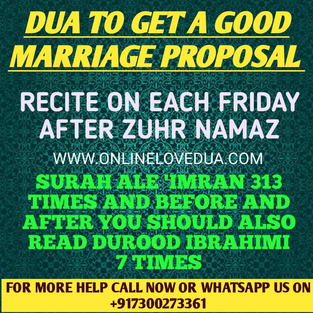 Wanting to someone marry dua for Dua For